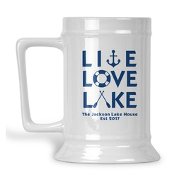 Live Love Lake Beer Stein (Personalized)