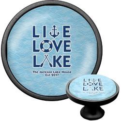 Live Love Lake Cabinet Knob (Black) (Personalized)