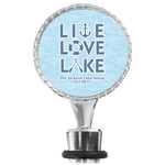 Live Love Lake Wine Bottle Stopper (Personalized)