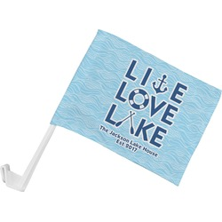 Live Love Lake Car Flag (Personalized)