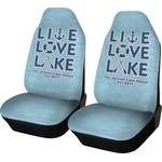 Live Love Lake Car Seat Covers (Set of Two) (Personalized)