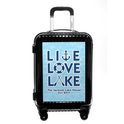 Live Love Lake Carry On Hard Shell Suitcase (Personalized)