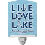 Live Love Lake Ceramic Night Light (Personalized)