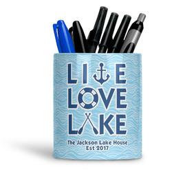 Live Love Lake Ceramic Pen Holder
