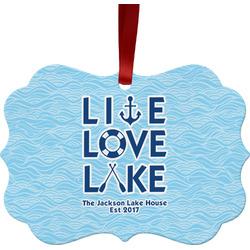 Live Love Lake Ornament (Personalized)