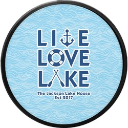 Live Love Lake Round Trailer Hitch Cover (Personalized)