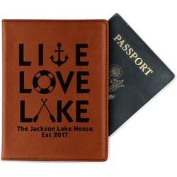 Live Love Lake Leatherette Passport Holder - Single Sided (Personalized)