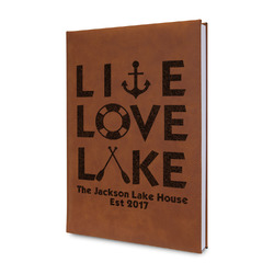Live Love Lake Leatherette Journal (Personalized)