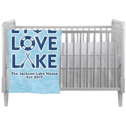 Live Love Lake Crib Comforter / Quilt (Personalized)