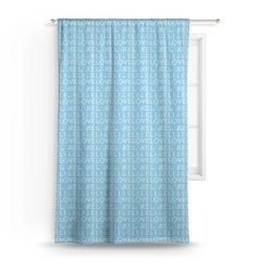 Live Love Lake Curtain (Personalized)