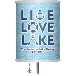 "Live Love Lake 7"" Drum Lamp Shade (Personalized)"