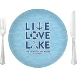 """Live Love Lake Glass Lunch / Dinner Plates 10"""" - Single or Set (Personalized)"""