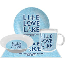 Live Love Lake Dinner Set - Single 4 Pc Setting w/ Name or Text