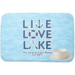 Live Love Lake Dish Drying Mat (Personalized)