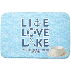 Live Love Lake Dish Drying Mat (Personalized)