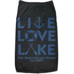 Live Love Lake Black Pet Shirt (Personalized)