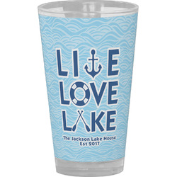 Live Love Lake Drinking / Pint Glass (Personalized)