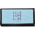 Live Love Lake Canvas Checkbook Cover (Personalized)