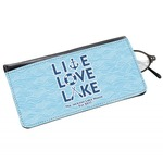 Live Love Lake Genuine Leather Eyeglass Case (Personalized)