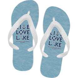 Live Love Lake Flip Flops - Large (Personalized)