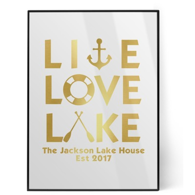Live Love Lake Foil Print (Personalized)