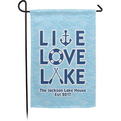 Live Love Lake Single Sided Garden Flag (Personalized)