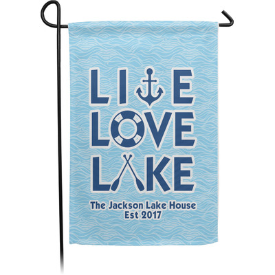 Live Love Lake Garden Flag - Single or Double Sided (Personalized)