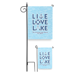 Live Love Lake Garden Flag (Personalized)