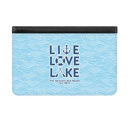 Live Love Lake Genuine Leather ID & Card Wallet - Slim Style (Personalized)