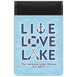 Live Love Lake Genuine Leather Small Memo Pad (Personalized)