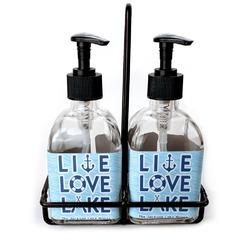 Live Love Lake Soap & Lotion Dispenser Set (Glass) (Personalized)