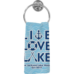Live Love Lake Hand Towel - Full Print (Personalized)