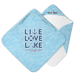Live Love Lake Hooded Baby Towel (Personalized)