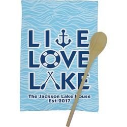 Live Love Lake Kitchen Towel - Full Print (Personalized)