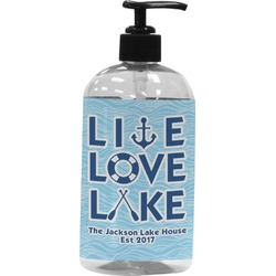 Live Love Lake Plastic Soap / Lotion Dispenser (Personalized)