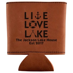 Live Love Lake Leatherette Can Sleeve (Personalized)