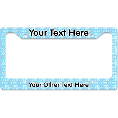 Live Love Lake License Plate Frame (Personalized)