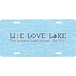 Live Love Lake Front License Plate (Personalized)