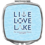 Live Love Lake Compact Makeup Mirror (Personalized)