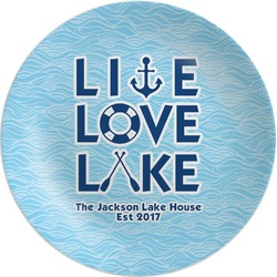 Live Love Lake Melamine Plate (Personalized)