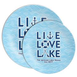 Live Love Lake Melamine Plate (Personalized)