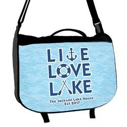 Live Love Lake Messenger Bag (Personalized)