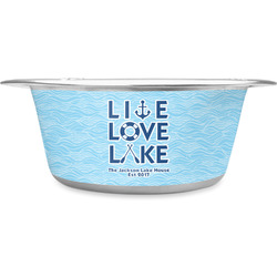 Live Love Lake Stainless Steel Dog Bowl (Personalized)