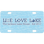 Live Love Lake Mini / Bicycle License Plate (4 Holes) (Personalized)