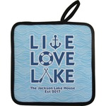 Live Love Lake Pot Holder (Personalized)