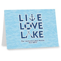 Live Love Lake Note cards (Personalized)