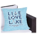 Live Love Lake Outdoor Pillow (Personalized)