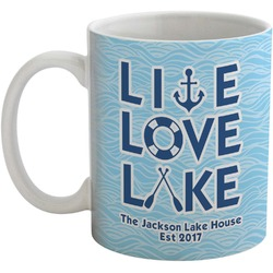 Live Love Lake Coffee Mug (Personalized)