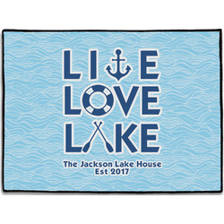 Live Love Lake Door Mat (Personalized)