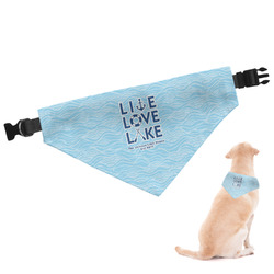Live Love Lake Dog Bandana (Personalized)